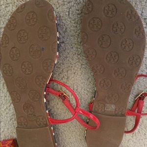 Tory Burch Shoes - Tory Burch Emmy Red White and Blue Sandals